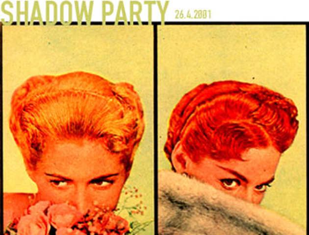 Flyer for Shadow Party, 2001.