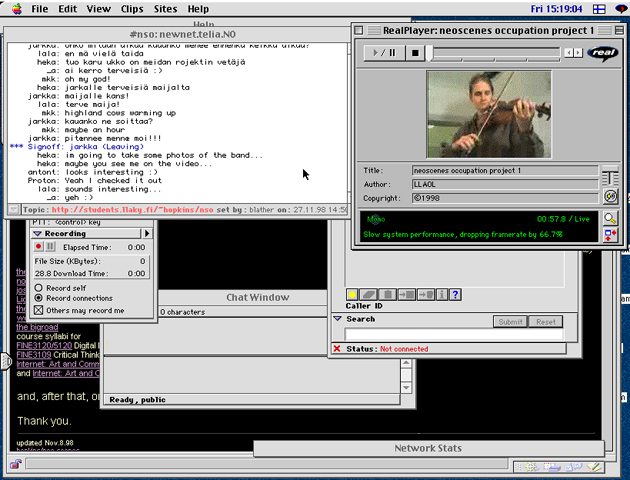 Screenshot of the NSO 1 ongoing, 1998.