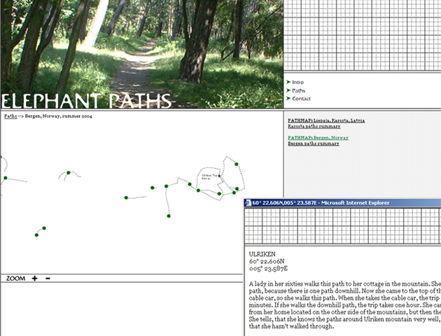 Elephant Paths website, 2004.
