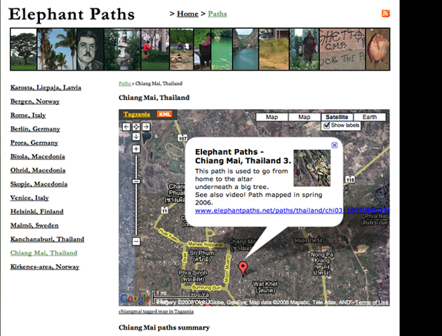 Elephant Paths website, 2008.