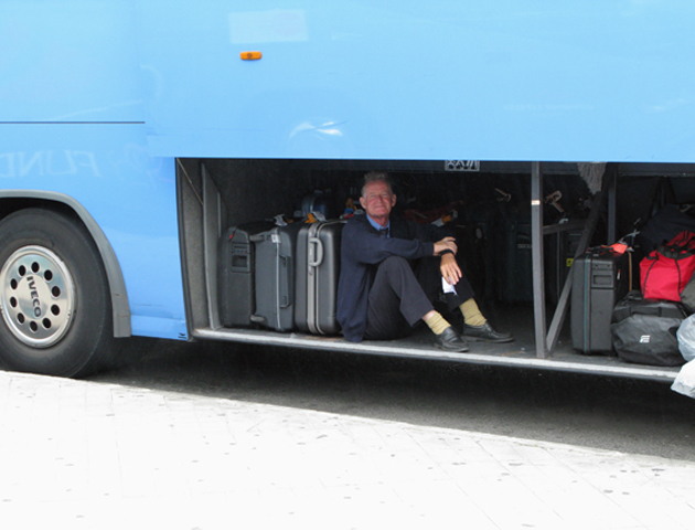 Bus driver, Canary Islands, 2009.
