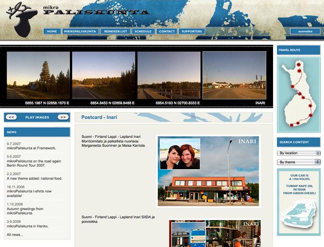 mikroPaliskunta expedition I website, 2006.