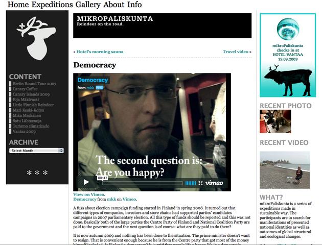 Current mikroPaliskunta website, published 2009.