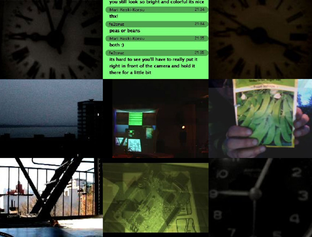 Screen capture of the live output, Museum of Modern Art Medellín, Colombia. 2009.