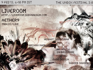 Aether9 in Unbox Festival 2013 (flyer).