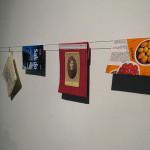 Passport covers by Mari Keski-Korsu in exhibition, 2009.