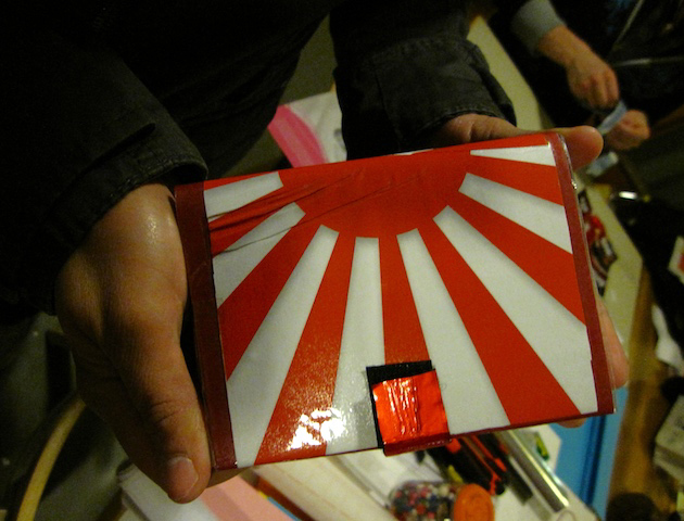 A passportcover made in a workshop, 2009.