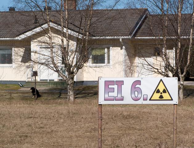 No to 6. nuclear power plant, sign at Parhalahti village in Pyhäjoki, 2012.