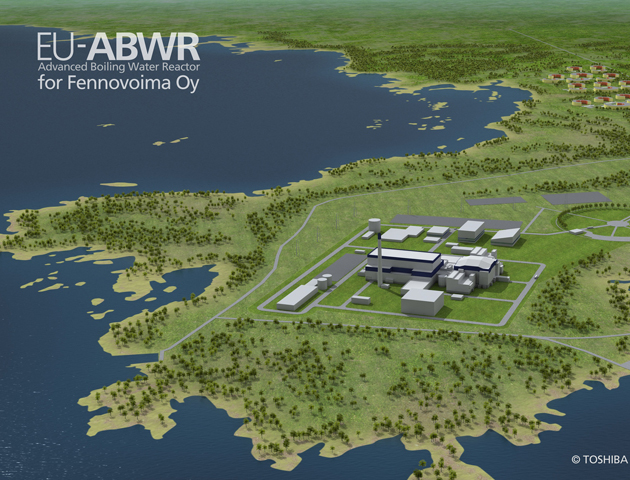 Pyhäjoki nuclear power plant plan at Hanhikivi Cape (Picture by Toshiba, 2012)