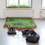 Alpaca Oracle - Meadow, installation, 2014. Photo: Hertta Kiiski.