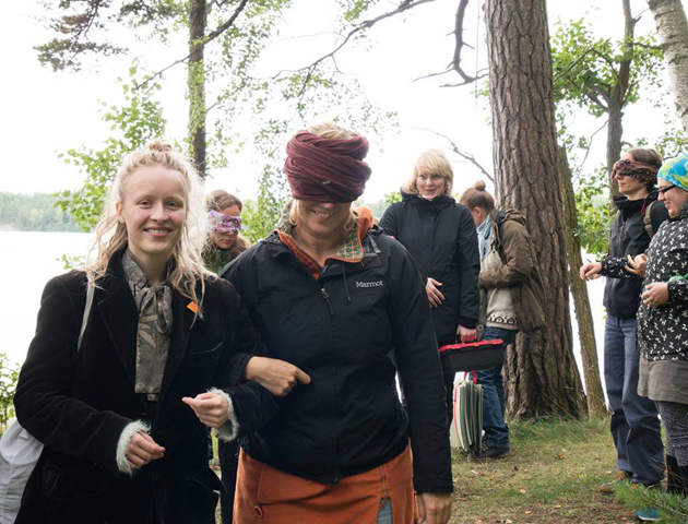 Calling for the Others, Arts in the Environment Nordic Symposium, Vartiosaari, Finland, 2017. Photo: Petri Ruikka