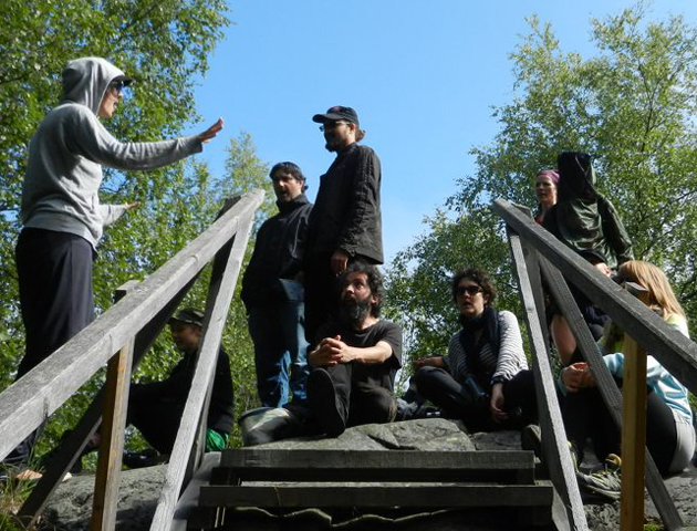 Voice at Hanhikivi rock. Photo by Liisa Louhela.