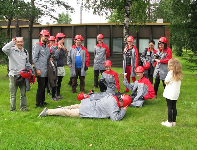 Case Pyhäjoki visiting Ruukki steel factory.